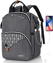 Rucksack Damen, Schulrucksack Mädchen Teenager mit USB Ladeanschluss, für Uni Reisen Freizeit Job   mit Laptopfach & Anti Diebstahl Tasche 15.6 Zoll
