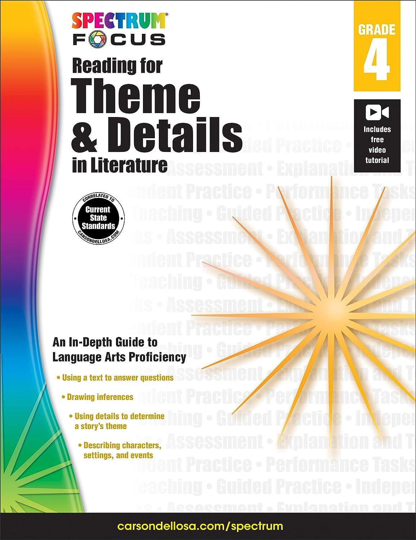Spectrum Reading For Theme And Details In Literature Grade 5 Spectrum Focus Spectrum Carson Dellosa Publishing 0044222245566 Amazon Com Books [ 1500 x 1155 Pixel ]