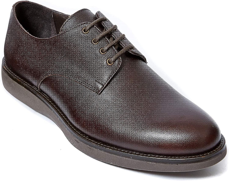 Frank Daniel Derby Stringata Schuh mit Dekor Plain Farbe Farbe Braun. Plain Derby Dark braun Herren  günstigere preise
