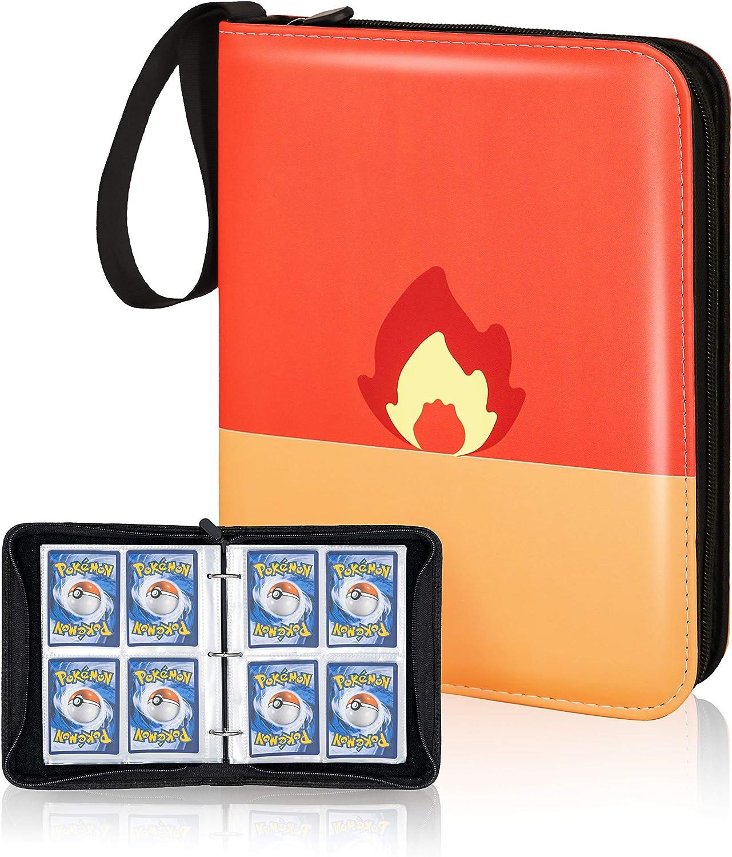 CLOVERCAT Excellence 4 Omaha Mall Pocket Trading Card Displ Waterproof Binder