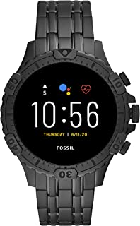 Fossil Gen 5 (46mm, black) Garrett Stainless steel Touchscreen Men's Smartwatch with Speaker, Heart Rate, GPS, Music stora...