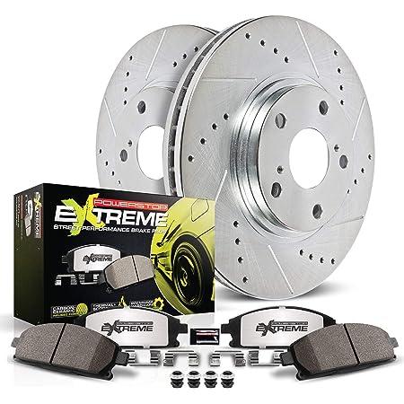 KT035723 Max Brakes Front /& Rear Performance Brake Kit Premium Cross Drilled Rotors + Ceramic Pads Fits: 2011 11 2012 12 2013 13 Fits Nissan Quest