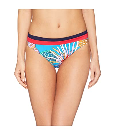 Trina Turk Tahiti Tropical Basic Hipster Bottom (Pacific Blue) Women