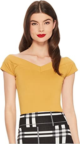 Unique Vintage Cap Sleeve Deena Top