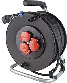 as - Schwabe 10132 Sicherheits-Kabeltrommel 25m aus Spezialkunststoff, Gummischlauchleitung: H07RN-F 3G2,5 IP44 Bau/Gewerbe