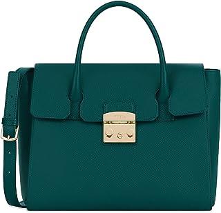 Furla Metropolis Ladies Medium Green Cipresso Leather Satchel 978150