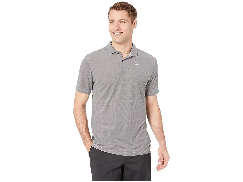 41d4386b Nike Golf Dry Essential Elevated Polo (Black/Heather/Flint Silver) Men