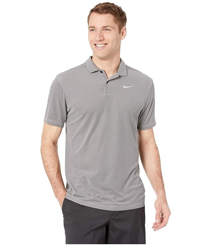 Nike Golf Dry Essential Elevated Polo (Black/Heather/Flint Silver) Men