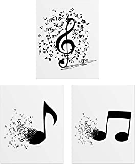 Summit Designs Music Notes Wall Decor - Set of 3 (8x10) Post