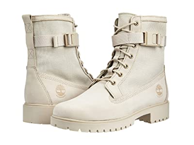 Timberland Jayne Fabric and Leather Waterproof Side Zip Boot (Light Taupe Nubuck) Women