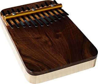 Zither Heaven Artisan Curly Maple 12 NoteThumb Piano with Black Walnut top made in the USA