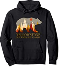 Retro Yellowstone Grizzly Bear Hoodie National Park Gift