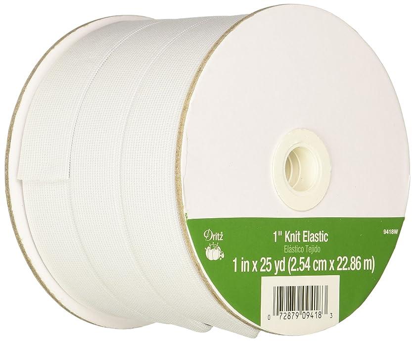 Dritz 9418W Knit Elastic, 1-Inch x 25-Yards, White