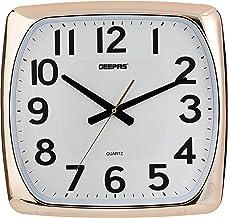 ساعة حائط دائرية من جيباس، ابيض وذهبي - GWC4808