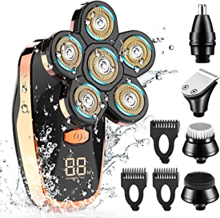 Sponsored Ad - Electric Shaver for Men , CHLANT 5-in-1 Head Shavers for Bald Men Wet and Dry Electric Razor Waterproof Cor...