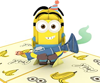 Lovepop Despicable Me Minions Birthday Surprise Pop Up Card, Minions Birthday Card, 3d Card, Popup Greeting Card, Birthday Card for Kids, Celebration Card