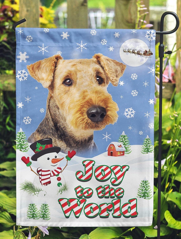 Home Garden Decoration Airedale Terrier Greetings Seasons Brand Cheap Sale Max 47% OFF Venue De Art