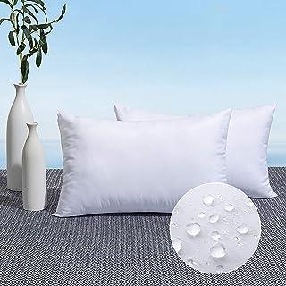 MIULEE Pack of 2 Outdoor Pillow Insert Waterproof 12x20 Throw Pillow Insert Premium Hypoallergenic Pillow Stuffer Sham Squ...