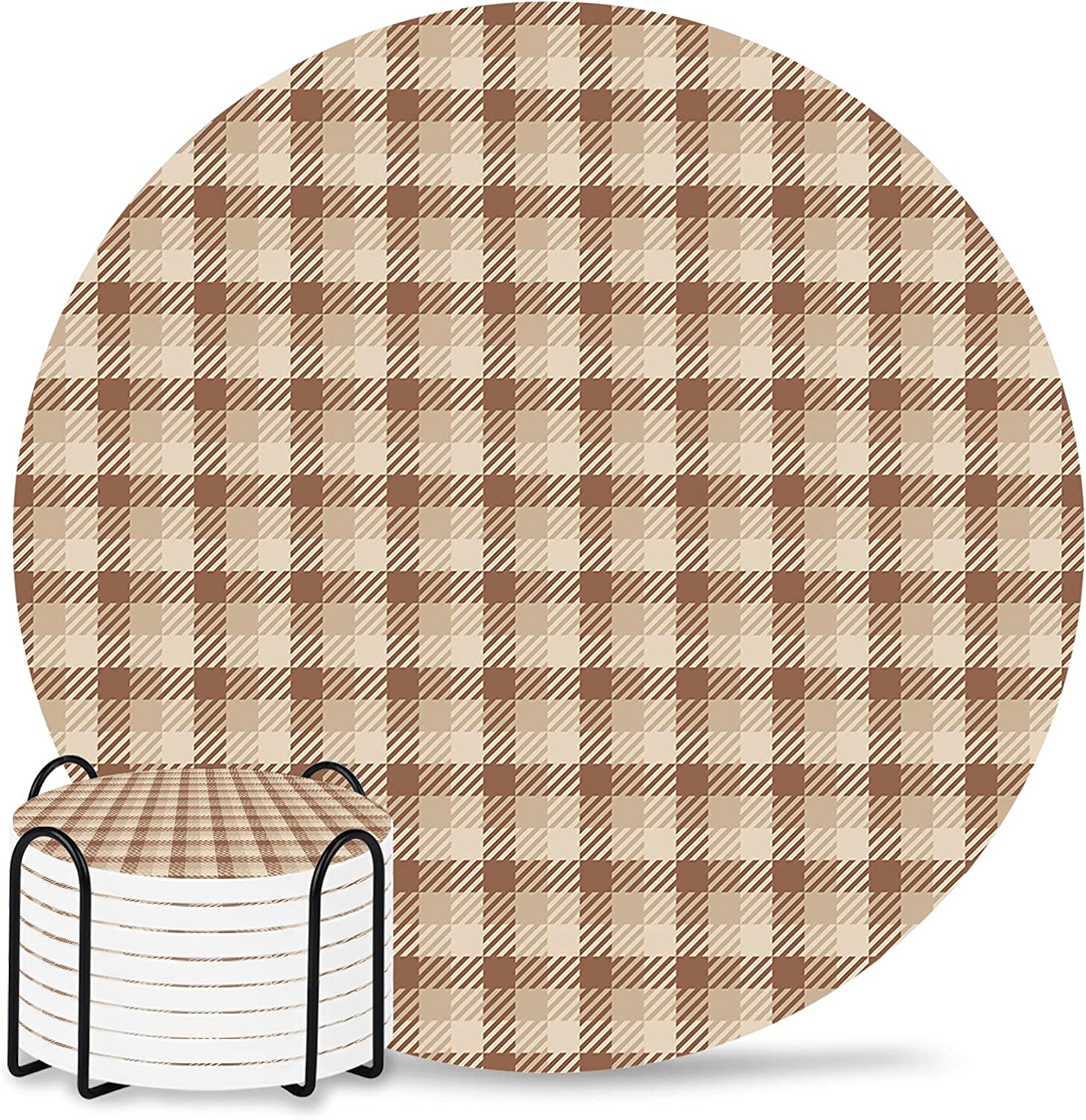Autumn 8-Piece Memphis Mall Set with Holder Coaster Cer Mail order for Drinks Absorbent