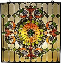 Chloe Lighting Stained Glass Victorian Window Panel 25X25
