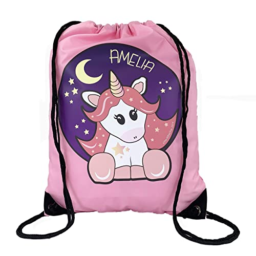 The Supreme Gift Company Personalised Kids Pink STAR UNICORN Drawstring  Swimming ed962c5dd8605