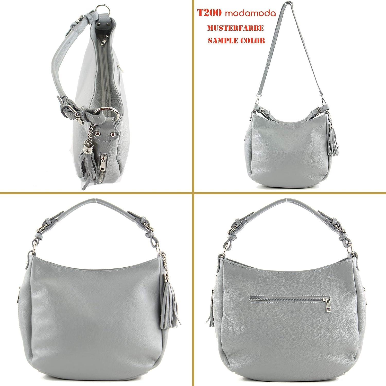modamoda de - T200 - ital épaule/sac à bandoulière en cuir Altrosa