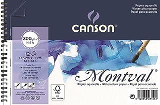 Bloco Espiralado Textura Fina 13,5x21cm 300g/m², Canson, 60807156, Montval, 12 Folhas