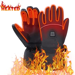Heated Gloves for Men Woman Hand Warmers Electric Btteries Gloves Motorcycle Gloves with 7.4 V Rechargeable Batteries Heating Gloves