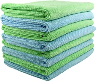 SecurOMax Thick Microfiber Cleaning Cloth, 15 x 15 Inches, 8 Pack