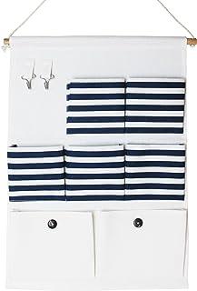 Tissu de coton porte Hanging Wall Cubes sac de rangement 7 poches