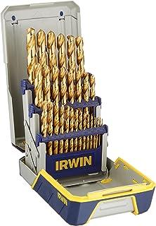 IRWIN Drill Bit Set, Titanium-Nitride, 29-Piece (3018003)