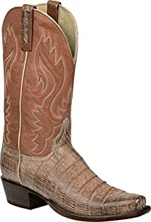 Lucchese Heritage Mens Lawson Tan Burnished Ultra Belly Caiman Tail H1013.74