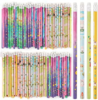 200 Count Pencils With Eraser Tops Colorful Pencils Assorted Designs Perfect For Teachers Children Classrooms and Party Gi...