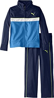 PUMA Boys' Little Tricot Jacket and Pant Set