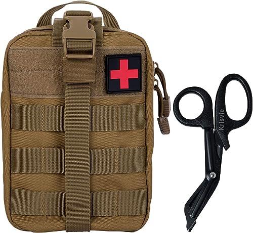KrisVie EMT Médecine Tactique Sac étanche Molle de Premiers Secours,Convient pour Le Camping et Les Activités de Plei...
