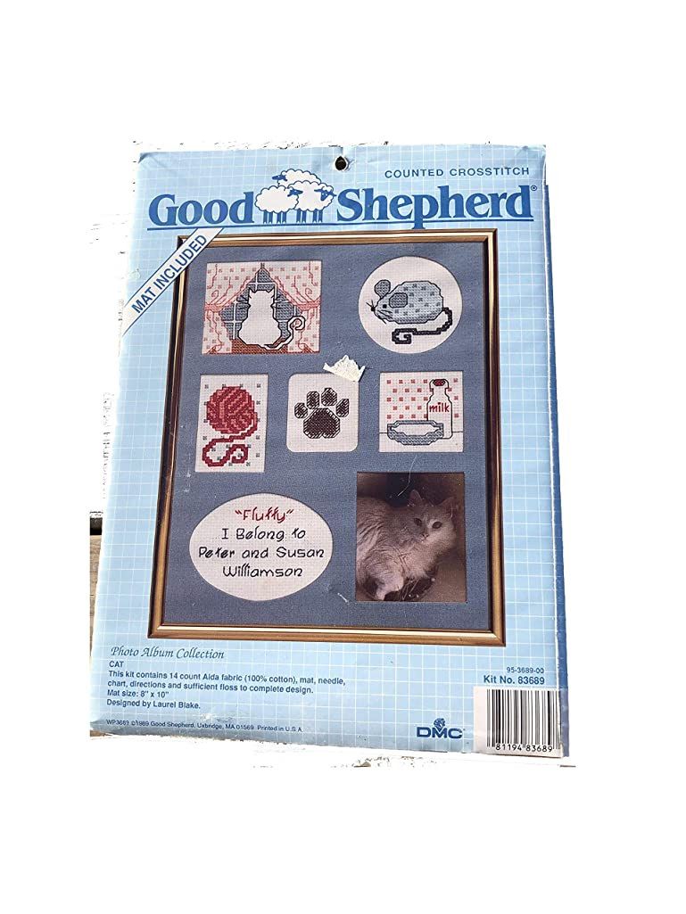 Photo Album Collection Counted Crosstitch w/Mat Cat 83689