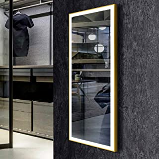 Sponsored Ad - Decoraport LED Full Length Mirror, Large Dressing Mirror with Touch Button, 48 x 20 Inch, Framed Light Luxu...