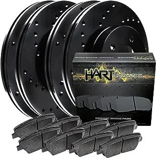 [FULL KIT] BLACK HART CROSS-DRILLED BRAKE ROTORS AND CERAMIC PADS BHXC.63057.02
