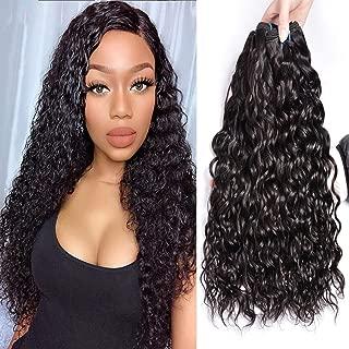 IWISH Brazilian Water Wave 3 Bundles (20 22 24) 8A Unprocessed Virgin Hair Brazilian Hair Wet and Wavy Human Weave No Shedding