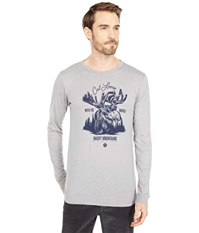 Parks Project Cut Loose with The Moose Long Sleeve Tee (Heather Grey) Clothing