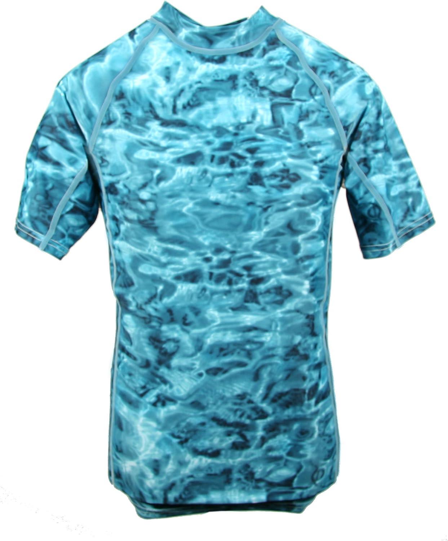 Aqua Design Men Loose Fit Rash Guard Surf Swim Sun Protection Clothing Rashguard