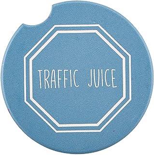 SB Design Studio SIPS Ceramic Car (Console) Coaster, Traffic Juice