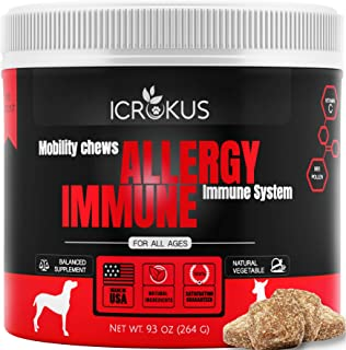 ICROKUS Probiotics for Dogs Allergy Relief Immunity Supplement for Dogs - Bee Pollen Organic Licorice Root, Digestive & Pr...