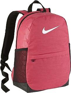 حقيبة ظهر Brasilia للأطفال من نايك مع تصميم متين وتخزين آمن، وردي وردي / أسود/أبيض