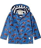 Vintage Tractors Raincoat (Toddler/Little Kids/Big Kids)