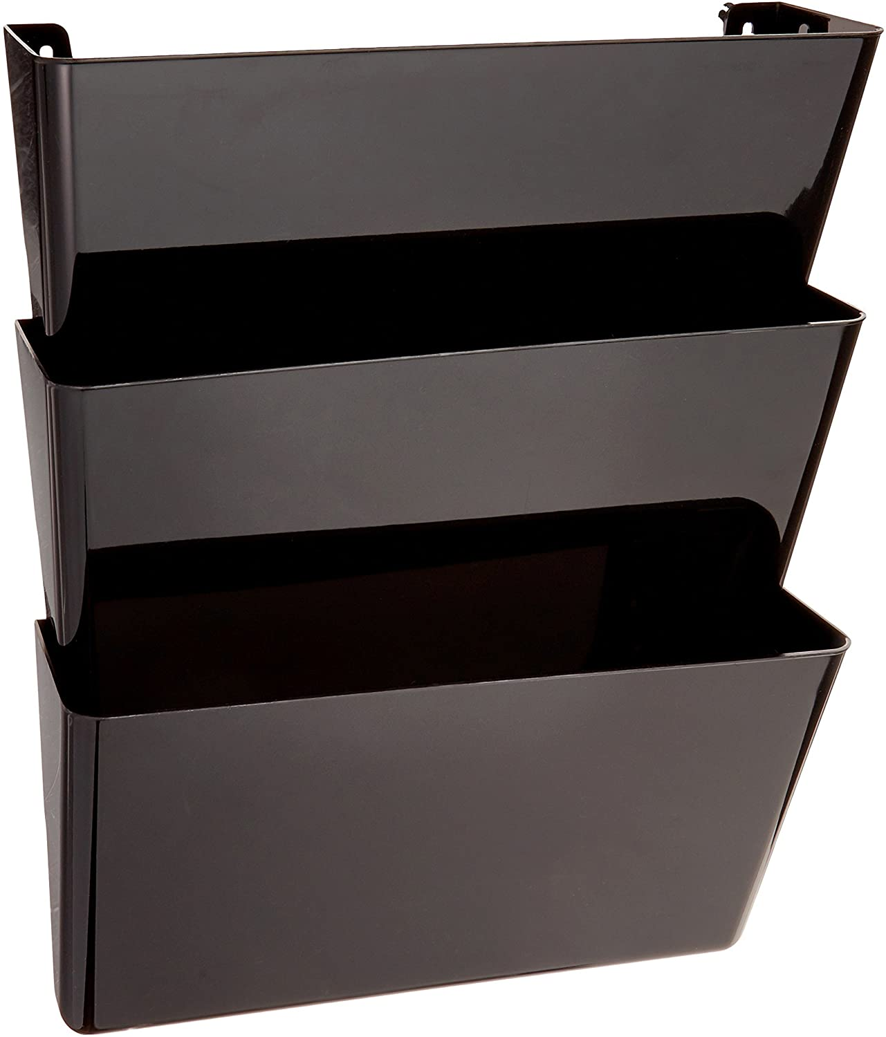 Deflecto 93604 Sustainable Office Docupocket Recycled Content Wall File Organizer Stackable Letter Size Black Set Of 3 13 W X 7 H X 4 D Amazon Ca Office Products