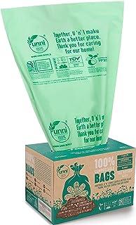 UNNI ASTM D6400 100% Compostable Trash Bags, 13 Gallon, 49.2 Liter, 50 Count, Heavy Duty 0.85 Mils, Tall Kitchen Trash Bag...