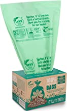 UNNI ASTM D6400 100% Compostable Trash Bags, 13 Gallon, 49.2 Liter, 50 Count, Heavy Duty 0.85 Mils, Tall Kitchen Trash Bag...