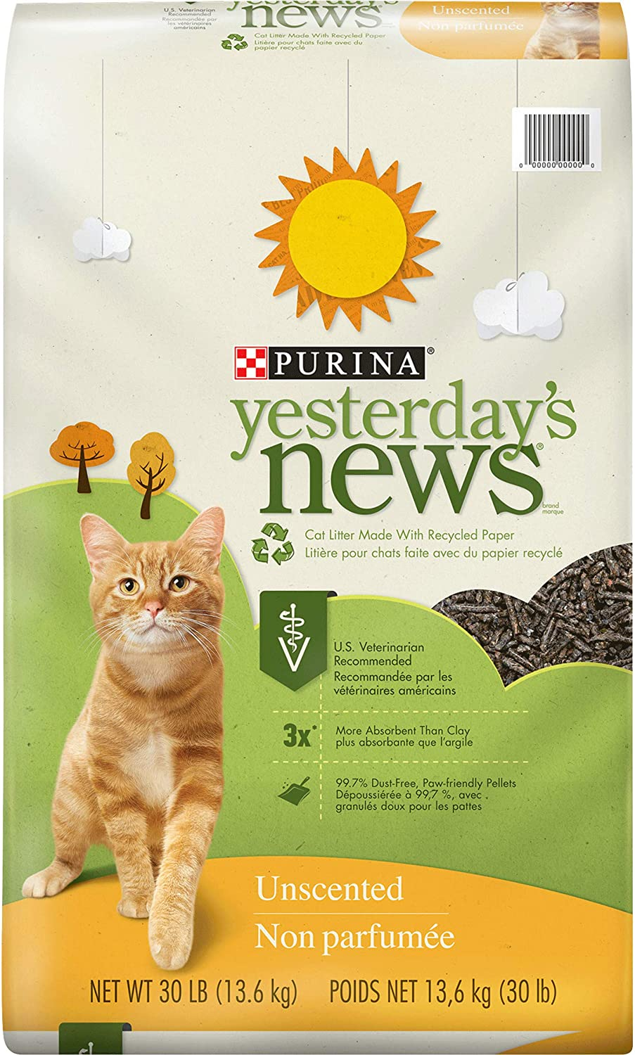 Super-cheap PURINA Yesterday's News Odor Pap Unscented Control Lightweight Product