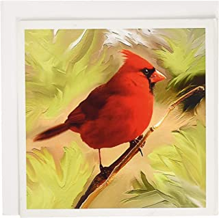 3dRose Red Cardinal - Greeting Cards, 6 x 6 inches, set of 6 (gc_4442_1)
